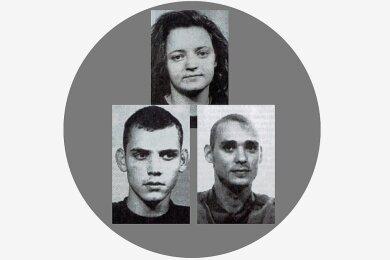 Das Kerntrio des NSU: Beate Zschäpe, Uwe Böhnhardt (l.) und Uwe Mundlos.