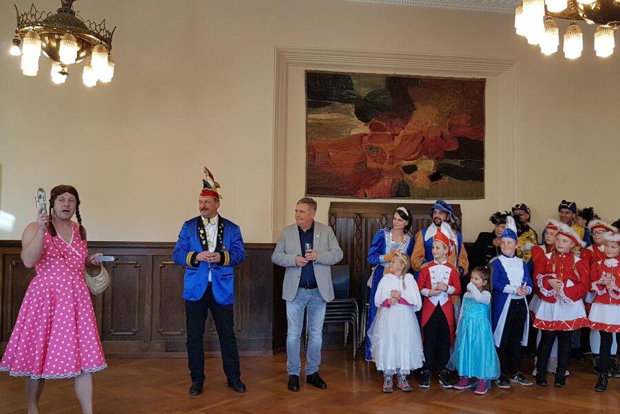 Greta Thunberg hat am Dienstag im Annaberg-Buchholzer Rathaus die Feinstaubwerte gemessen.