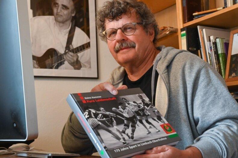 """Über zwei Jahre lang hat Heinz Hammer am Buch """"Pure Leidenschaft - 175 Jahre Sport in Limbach-Oberfrohna"""" geschrieben. Jetzt ist es fertig und in der Stadtinformation erhältlich."""