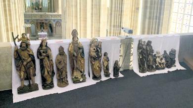 Die Oberlungwitzer Kirchenfiguren im Meißner Dom.