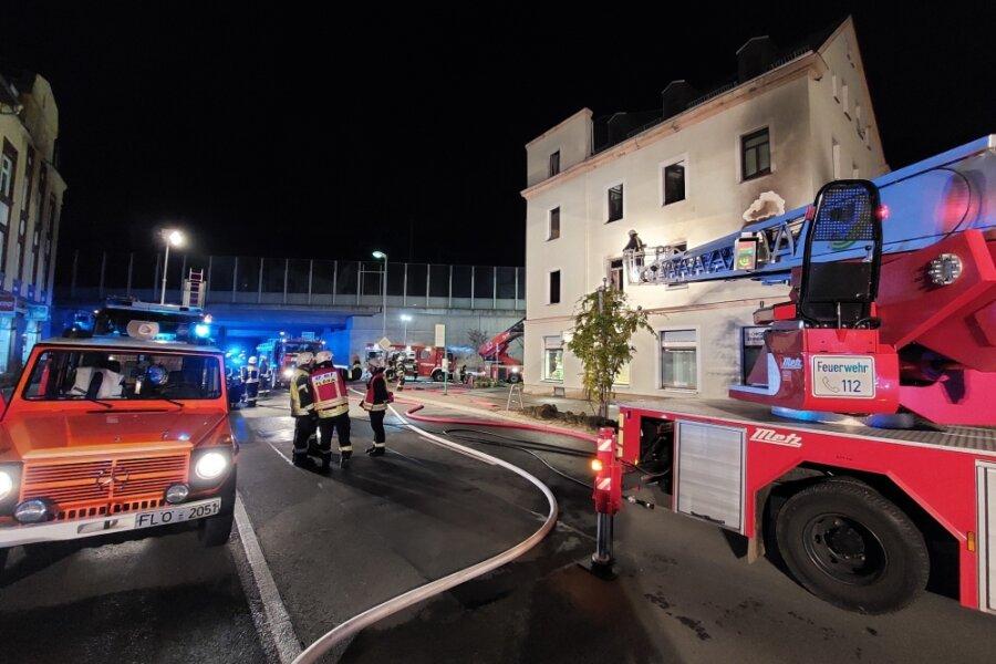 Geschwister bei Wohnhausbrand in Flöha verletzt