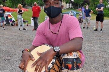 Emmanuel Nganje aus Kamerun war bei der Veranstaltung in Schneeberg dabei.
