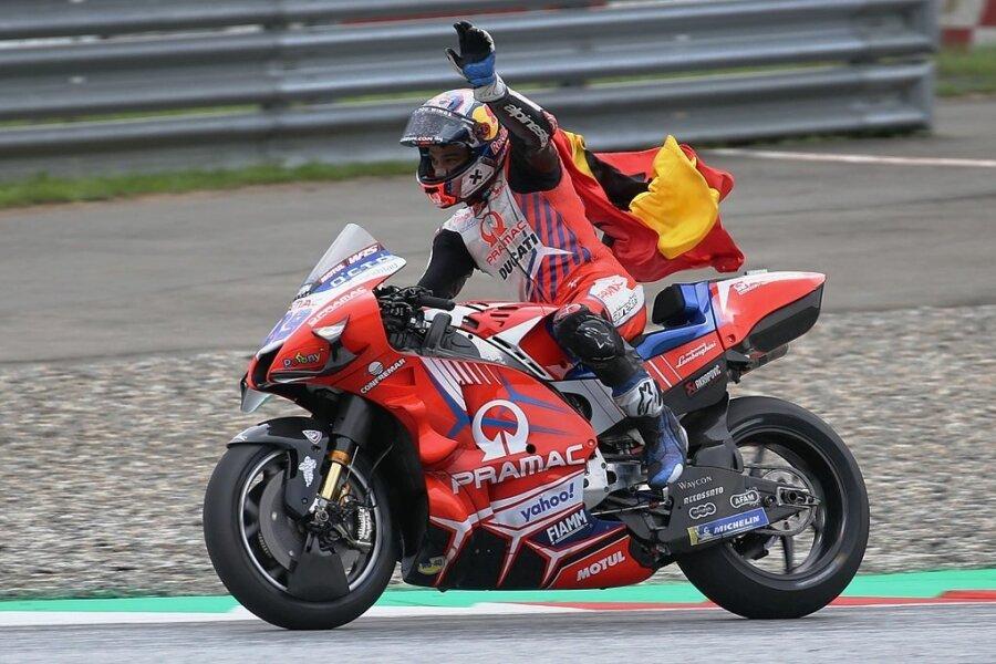 In seinem sechsten Moto-GP-Rennen gelang dem Spanier Jorge Martin der erste Sieg.