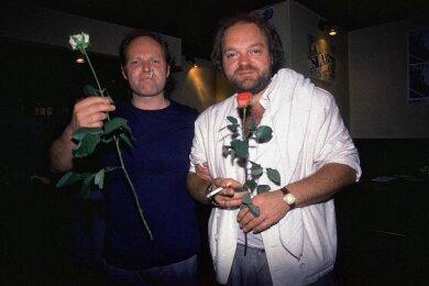 Dornig geblieben: Gerulf Pannach (links) kurz vor seinem Tod 1998 mit seinem Freund, dem Liedermacher und zeitweiligem Renft-Keyboarder Christian Kunert.