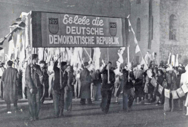 Demosntration in Berlin am 7. Oktober 1949