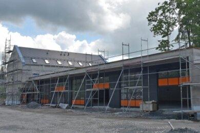 Die Rettungswache in Geyer soll ab November genutzt werden.