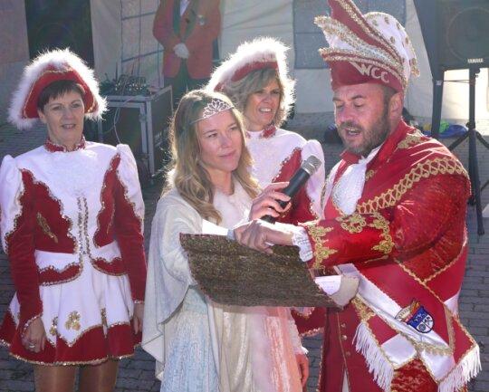 Das Wilkauer Prinzenpaar Anne (Klüglich - Zwickaus Ex-Stadtmanagerin) und Michael.