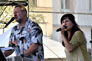 Das Duo Matti und Conny beim Flutbenefiz.