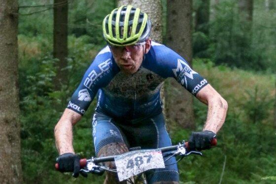 Kennt das Gelände und siegte: Sebastian Stark aus Zwönitz.