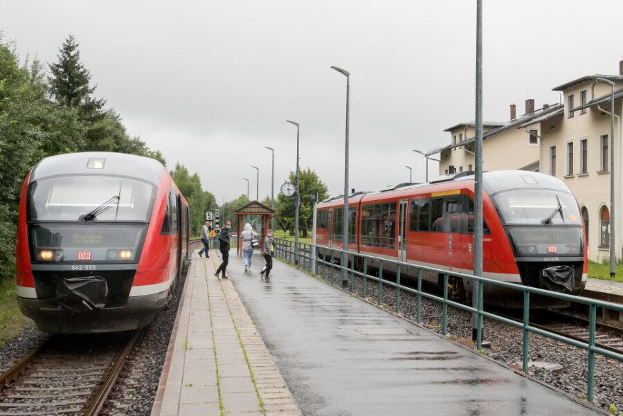Nach Olbernhau rollten die Züge am Montag normal.
