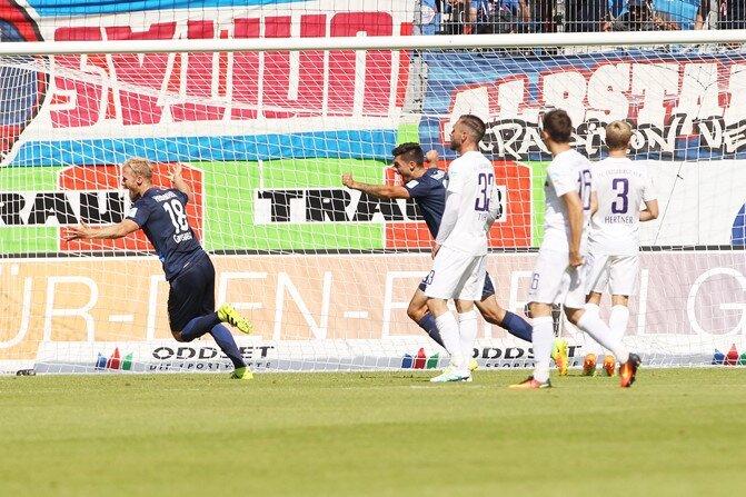 Tor für Heidenheim: Dennis Thomalla erzielte den Treffer zum 1:0.