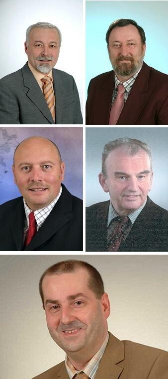 Bernd Gerber, Dieter Theis, Frank Hillmann, Ralf Tittmann und Stefan Boxler.