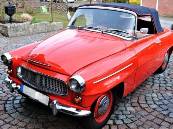 Dieser Skoda Felicia, Baujahr 1961, ist am Wochenende mit dabei.