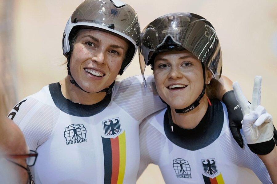 Lea-Sophie Friedrich (r.) und Emma Hinze sind im Sprint der Frauen derzeit das Maß aller Dinge. Beide besitzen bereits fünf WM-Titel.