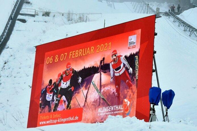 In der Vogtland-Arena laufen die Vorbereitungen fürs Weltcup-Wochenende