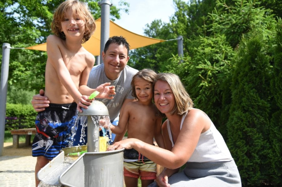 Wasserspielplatz sorgt für Spaß und Erfrischung