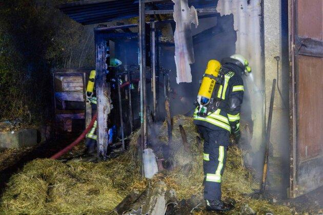 Schuppenbrand in Brand-Erbisdorf