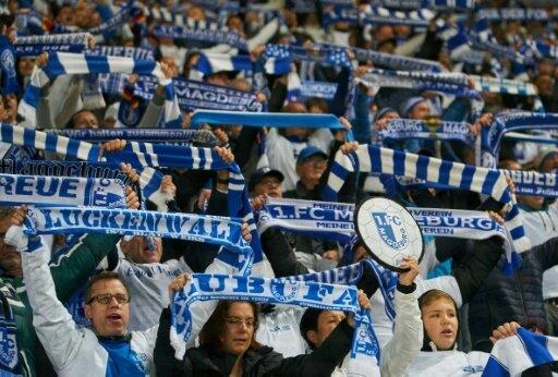 Magdeburger Fans feiern dritten Sieg in Folge