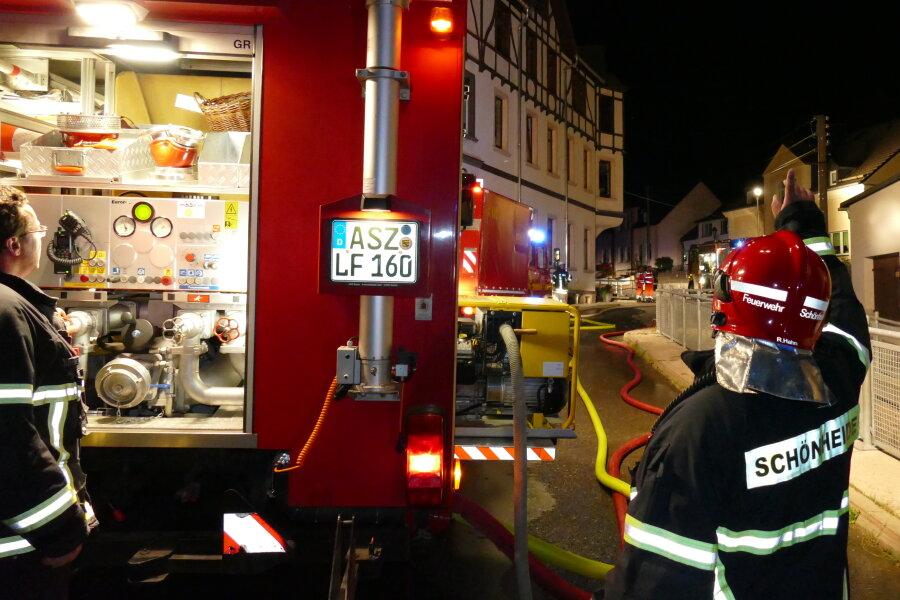 Schuppen in Eibenstock brennt ab