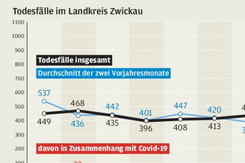 Pandemie sorgt für deutliche Übersterblichkeit im Landkreis
