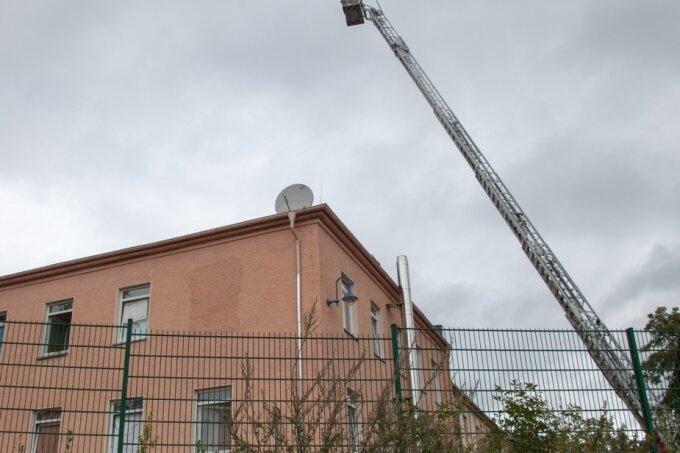 In der Flüchtlingsunterkunft Aue-Alberoda brach Ende August ein Brand aus.