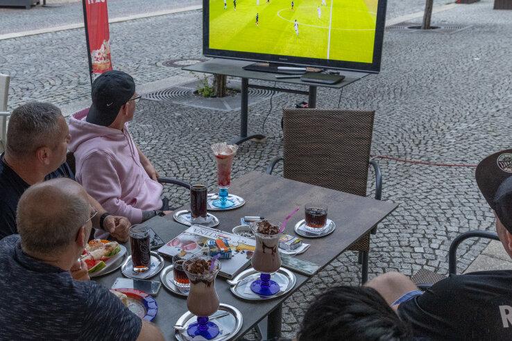 Public Viewing auf dem Annaberger Markt.
