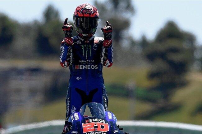 Der Franzose Fabio Quartararo landete in der MotoGP-Klasse seinen zweiten Sieg in Folge.