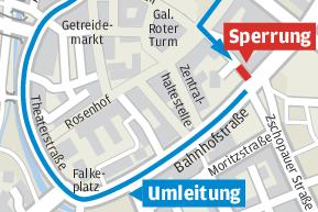Johannisstraße gesperrt - Zufahrt über Fußgängerzone