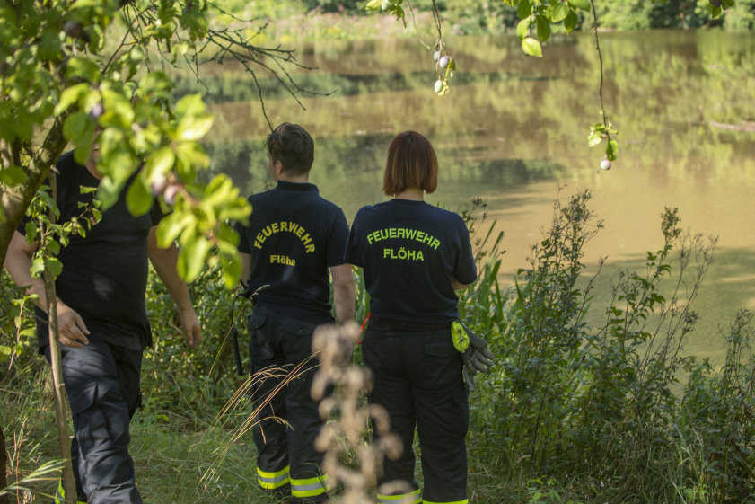 Die Suche nach einem leblosen Körper im Hetzbach verlief ergebnislos.