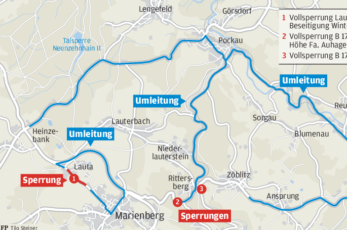 Bundesstraße knapp zwei Wochen dicht