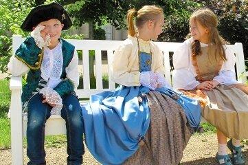 Im Kostüm feiern wie August der Starke können Kinder in Schloss & Park Pillnitz.