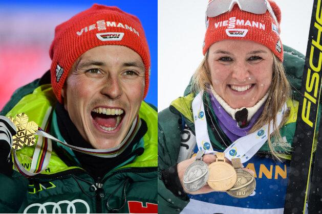 Denise Herrmann und Eric Frenzel zu Sportlern des Jahres gekürt