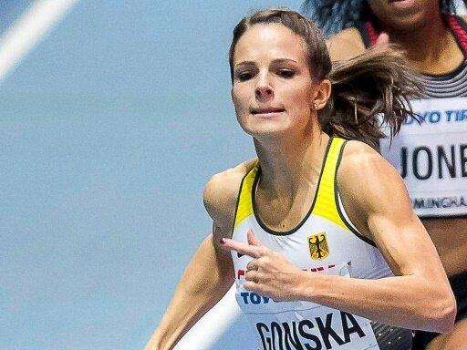 Nadine Gonska ist über 400 m im Vorlauf ausgeschieden