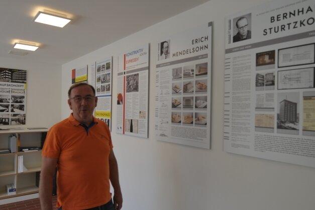 Jens Dietrich ist am Erhalt der Schocken-Warenhäuser beteiligt und hat die Wanderausstellung mitkuratiert.