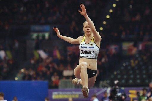 Neele Eckhardt steht im Dreisprungfinale