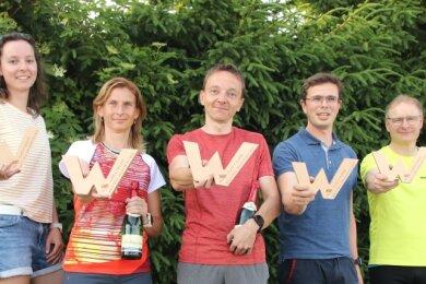 Haben gewonnen: Marie Lux, Rothenkirchen (2. Platz), Annett Große, Lengenfeld (1. Platz), Mirko Behrendt, Reichenbach (1. Platz), Kevin Meichsner, Unterheinsdorf (2. Platz), Rene Weigel, Lengenfeld (3. Platz). Es fehlt: Susanne Scharf, Zwickau (3.Platz).