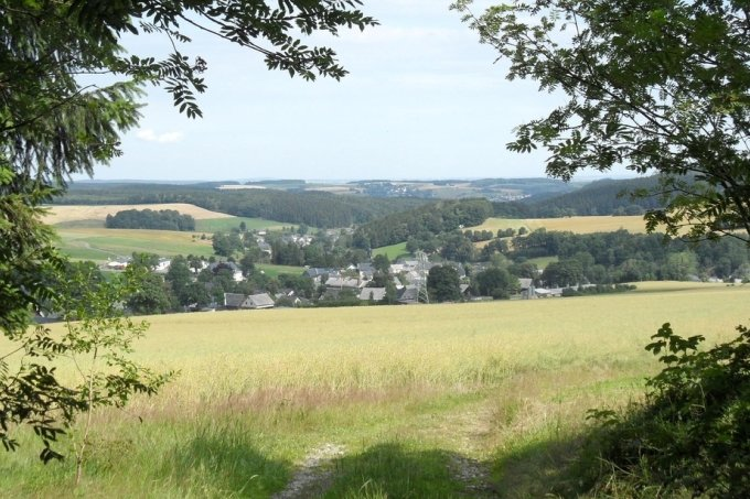 Blick auf Hormersdorf.