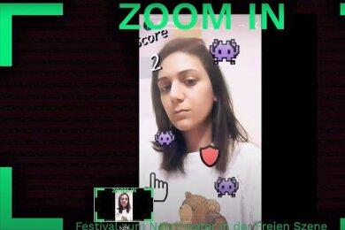 """Ästhetik wie im PC-Spiel: Screenshot aus der interaktiven Inszenierung """"Kult der toten Kuh"""" beim Online-Festival """"Zoom in""""."""