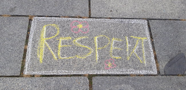 Die Organisatoren der Malaktion in Plauen wollen ein deutliches Zeichen setzen: Plauen ist bunt.