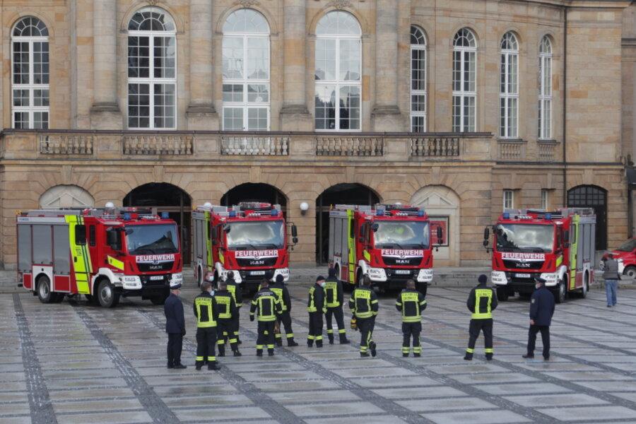 Vier neue Fahrzeuge für Chemnitzer Feuerwehren