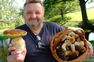 Bitte maßvoll sammeln. Pilzberater Klaus Lorenz sieht in den vielen Erfolgsmeldungen der jüngsten Zeit auch eine Gefahr, die Sammellust weiter anzuheizen - mit Folgen für den ohnehin gestressten Wald.