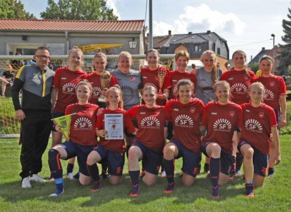 Die Frauenmannschaft des Regionalligisten 1. FFC Hof wurde ihrer Favoritenrolle beim Turnier des SV Planitz gerecht und nahm den Pokal mit nach Oberfranken.