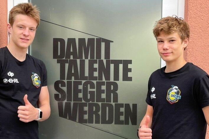 Die beiden Nachwuchswasserballer Finn Taubert (links) und Max Rössel wollten in dieser Woche eigentlich bei der U-15-EM in Portugal dabei sein. Der deutsche Schwimmverband sagte die Turnierteilnahme aber kurzfristig aufgrund der Corona-Pandemie ab.