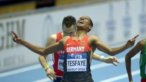 Homiyu Tesfaye steht bei der EM im Finale über 1500 m