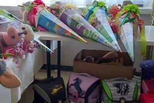 Zwölf Zuckertüten und sieben neue Ranzen wurden von der Aktion Kinderherzen gefüllt.
