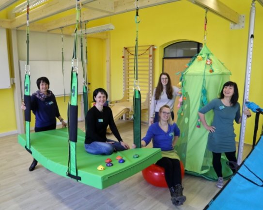 Das Team des Kinderzentrums kümmert sich ab Montag um die Förderung der kleinen Patienten.