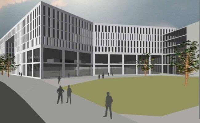 Diese Studie für eine Bebauung des Conti-Lochs am Dresdner Platz hat das Chemnitzer Architekturbüro Peter Koch für Claus Kellnberger erarbeitet.