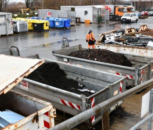Der Wertstoffhof der Firma Becker Umweltdienste und EKM in Freiberg ist seit vier Jahren alarmgesichert.