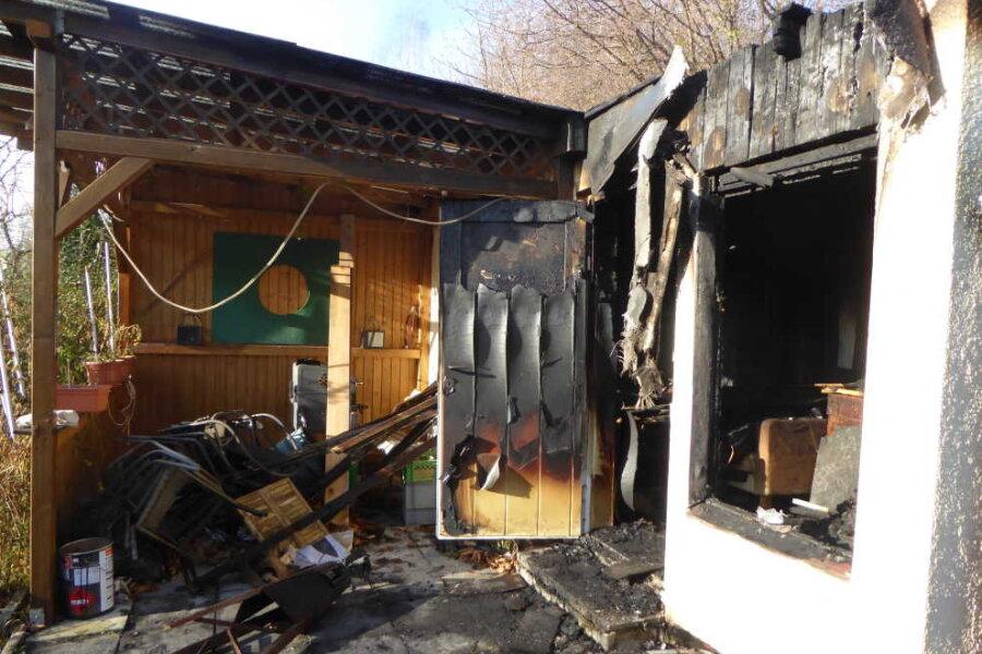Gartenhaus in Obermylau brennt ab