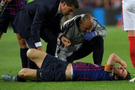 Messi zog sich Unterarmbruch zu